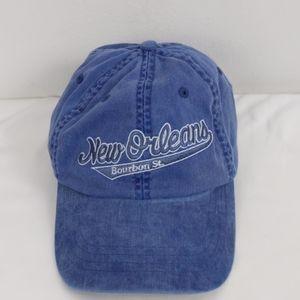 New Orleans Bourbon St. Blue hat